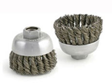 KNOT TYPE CUP- CABLE TWIST SINGLE ROW