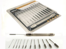 SERIES 81-A STAINLESS STEEL CROSS HOLE DEBURRING MINI BRUSH KIT